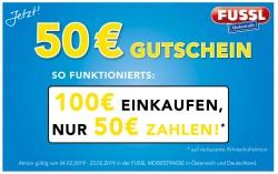50 € Gutscheinaktion bei Fussl!