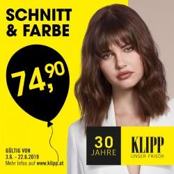 Schnitt & Farbe um nur 74,90€ bei KLIPP